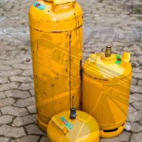 Series of propane tanks